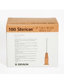"Aguja  Sterican 18G x 1 1/2"", 1,20 x 40 mm,"