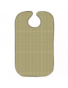 Babero para adulto Oxford verde Tela/PVC 50x85 con corchetes