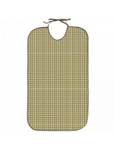 Babero para adulto Oxford verde Tela/PVC 50x85 con lazo