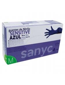Guante de nitrilo azul –Sanyc