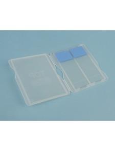 Caja plástico plana para 2 portas