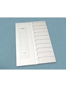 Bandeja cartón con tapa para 10 portas