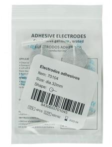 Electrodos adhesivos redondos con gel conductor incorporado
